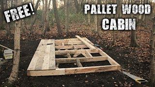 Download Building an Off Grid Cabin in the Forest using Free Pallet Wood - A Wilderness Project Video