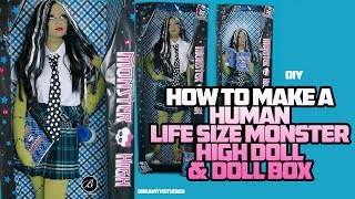 Download HOW TO DIY: LIFE SIZE HUMAN MONSTER HIGH DOLL AND DOLL BOX Video