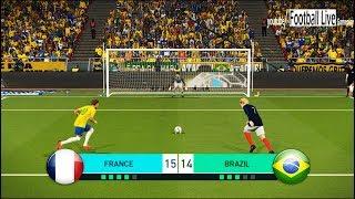 Download PES 2018 | FRANCE vs BRAZIL | Penalty Shootout | Mbappe vs Neymar | Gameplay PC Video