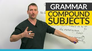 Download English Grammar: Compound Subjects& Verb Agreement Video