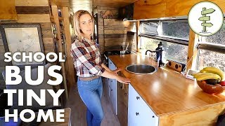 Download Family Quits the 9 to 5 to Live & Travel in an Off Grid School Bus Conversion Video