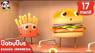 Download Hamburger dan Kentang Goreng | Kumpulan Film Hamburger | BabyBus Bahasa Indonesia Video
