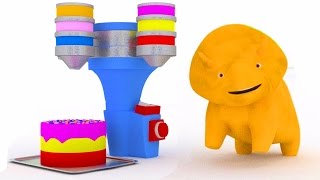Download Learn colors with the Birthady cake and Dino the Dinosaur | Educational cartoon for children Video