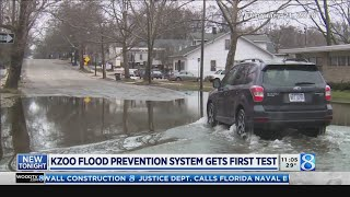 Download Kzoo flood prevention system gets first test Video