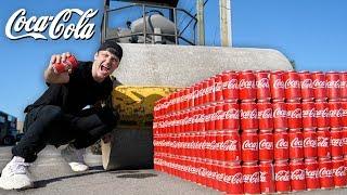 Download 1000 CANS OF COKE vs ROAD ROLLER!! (COCA COLA vs ROAD ROLLER EXPERIMENT) Video