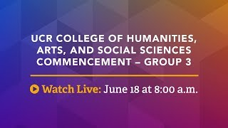 Download UCR Commencement Ceremony - CHASS 3 Video