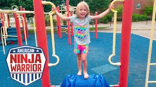 Download Addie plays Ninja Warrior on the playground Video