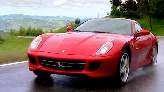 Download Testing The Ferrari 599 GTB Fiorano HGTE With Sir Stirling Moss - Fifth Gear Video