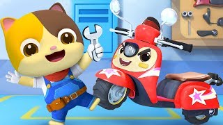 Download Motorbike Scoopy Song | Police Car, Doctor Cartoon, Fire Truck | Kids Songs | Kids Cartoon | BabyBus Video