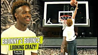 Download Bronny James Jr DUNKING EASSYYY AND Showing Off JELLY Package!! Video