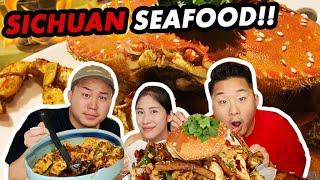 Download THE BEST SICHUAN SEAFOOD IN LA (Chili Crabs, Crawfish, Shrimp, Octopus!) Szechuan Video