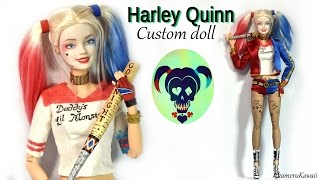 Download Harley Quinn inspired Doll / Barbie Repaint (Suicide Squad) Video