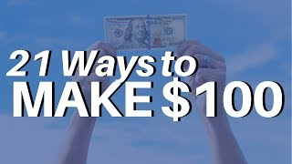 Download 21 Ways to Make $100 PER DAY Online (ACTUAL METHODS; NOT HYPE) Video