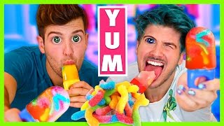 Download SOUR GUMMY WORM POPSICLE DIY! Video