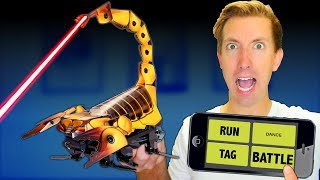 Download Build a ROBOT in Real Life! - Battle Robots vs Fruit Ninja (DIY Toys - Amazon Tech Unboxing Review) Video