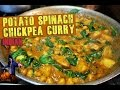 Download Curried Potato Chickpea & Spinach (Indian) The Vegan Zombie Video