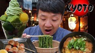Download MATCHA(Green Tea) SOBA NOODLES! KYOTO Japan Food Tour Video