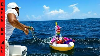 Download SHARK PULLS Guy 2 MILES in OCEAN on UNICORN POOL FLOATY! Video
