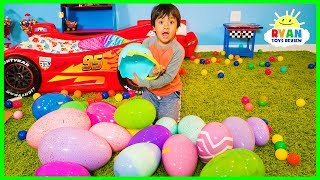 Download Huge Easter Egg Hunt Surprise Toys Challenge for kids with Ryan ToysReview Video