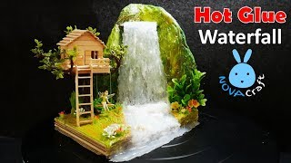 Download Hot Glue Waterfall mini House Building Tinker Bell's Tree house Tutorial - Hot Glue NOVA Craft Video