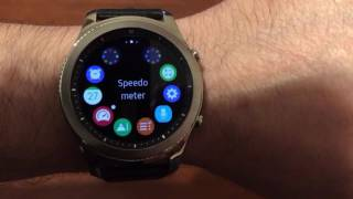 Download Gear S3 speedometer is available! Video