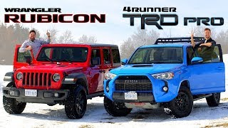 Download 2019 Toyota 4Runner TRD Pro vs Jeep Wrangler Rubicon // Face-Off Video
