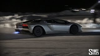Download Aventador S - Flamethrower HOT LAPS on ICE! Video