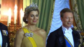 Download Staatsbanket met koningspaar en groothertogelijk paar Video