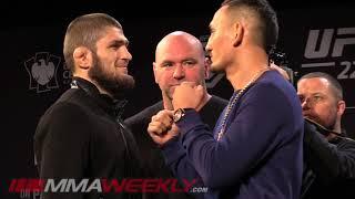 Download UFC 223 Face Offs: Khabib Nurmagomedov vs Max Holloway, Rose vs Joanna Video