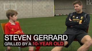 Download Steven Gerrard grilled by 10 year-old fan Video