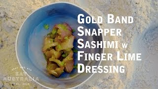 Download Gold Band Snapper Sashimi w' Finger Lime Dressing Video