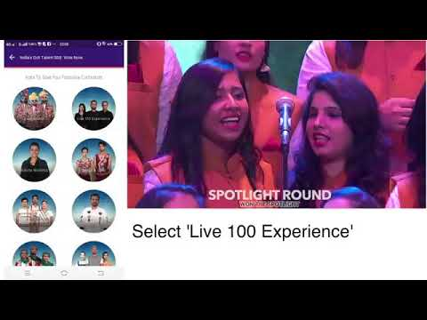 The Live 100  Experience - India's Got Talent (Colours TV) - VOTE APPEAL