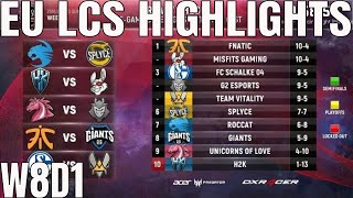 Download EU LCS Highlights ALL GAMES Week 8 Day 1 Full Day Highlights Summer 2018 W7D1 Video