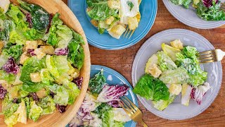 Download Caesar Salad with Homemade Dressing and Croutons By Salt Fat Acid Heat Author Samin Nosrat Video