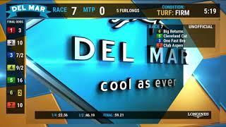Download Big Returns Wins Race 7 at Del Mar 07/20/19 Video
