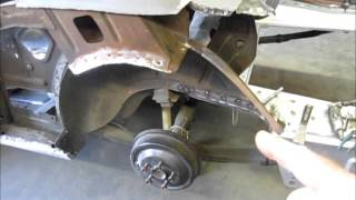 Download 1965 Mustang trunk pan install and initial fitment of quarter panel. Mystique part 5 Video