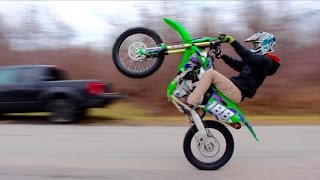 Download CRAZY DIRT BIKE ROAD WHEELIES!!! Video
