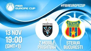 Download LIVE 🔴 - Z Mobile Prishtina v Steaua Bucuresti - FIBA Europe Cup 2019 Video