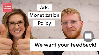 Download 👆WE WANT YOUR FEEDBACK 💸 Ads Monetization Policy Help Materials Video