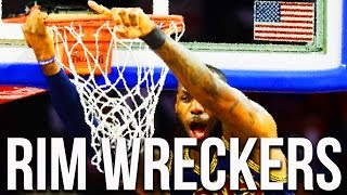 Download 10 NBA Players Who Wreck the Basket - Ripped the Rim or Shattered the Backboard Video
