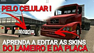 Download APRENDA A EDITAR E BOTAR AS SKINS DO LAMEIRO E DA PLACA NO HEAVY TRUCK SIMULATOR PELO CELULAR Video