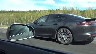 Download Audi R8 Coupé V10 525 HP vs Porsche Panamera Turbo 550 HP [4k] Video