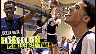 Download High School Team BEATS College Basketball Team!! Addison Patterson DUNKS ALL OVER EM Video