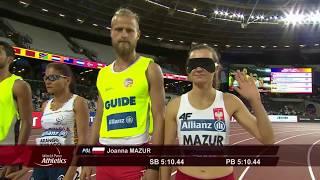 Download Niewidoma JOANNA MAZUR Złoty Medal w biegu na 1500m T11 London World Para Ath. niesamowity triumf Video