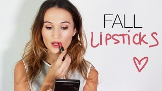 Download Top 5 Lipsticks For Fall / ttsandra & Pretty Shiny Sparkly Video