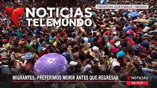 Download Hondureños presionan para cruzar a México | Noticiero Video