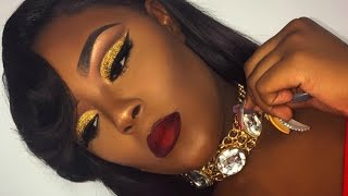 Download Poppin' Holiday Glam Glitter Cut-Crease Makeup Look | Briana Marie Video