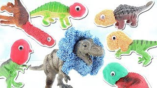 Download SCARY DINOSAURS AT JURASSIC PARK!!! | HIDE AND SEEK | Learn Dinosaur Names for Kids~~ REX Video
