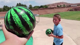 Download BEST REAL VS FAKE CHALLENGE!! FILLING MY POOL WITH WATERMELONS!! Video