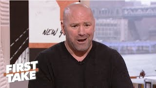 Download Dana White calls out Oscar De La Hoya for lying in ESPN interview | First Take Video